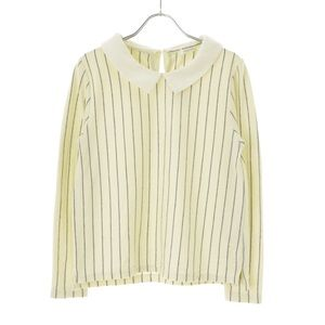 🍂 Cute stripe Peter Pan collar knit top shirt S
